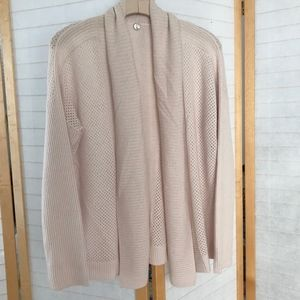 Margaret O'Leary 100% cashmere cardi in soft pink